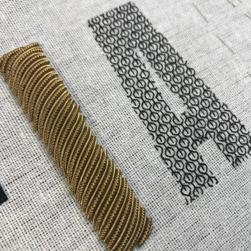 Goldwork and blackwork